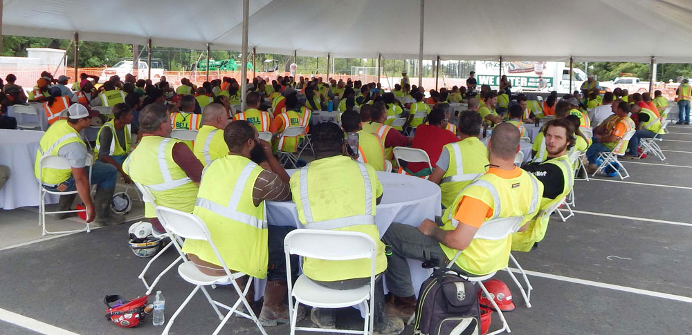 Caddell Construction safety at Nuclear Power Training Facility Project