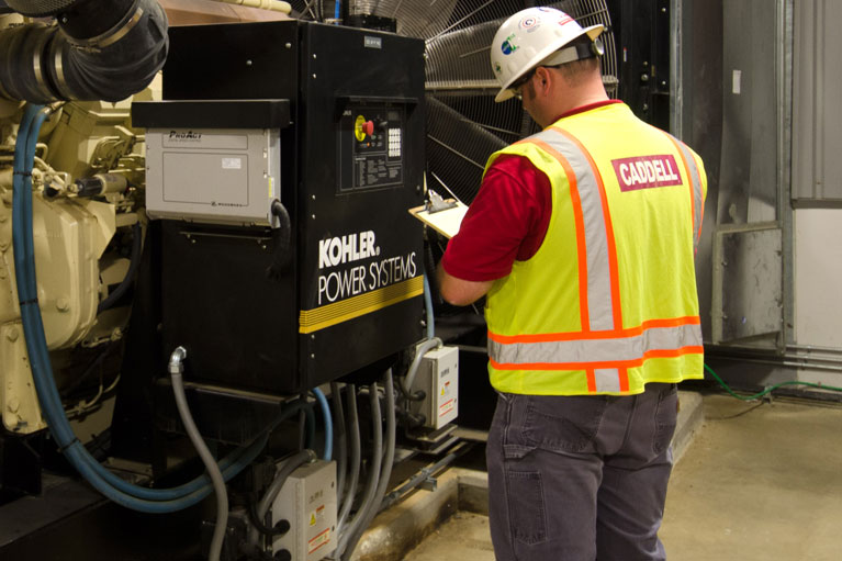 Caddell Construction power systems at Correctional Facilities